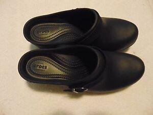 Crocs Dual Comfort Black Heel Shoes