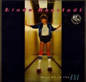 LINDA-RONSTADT-living-in-the-usa-red-vinyl-with-lyric-inner-LP-EX-EX-K53085