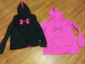 Girls-Under-Armour-Pullover-Hoodie-Sz-YXL-lot-of-2