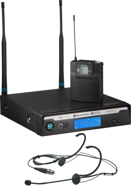 Electrovoice EV R300-E Headset Wireless Microphone System - A Band
