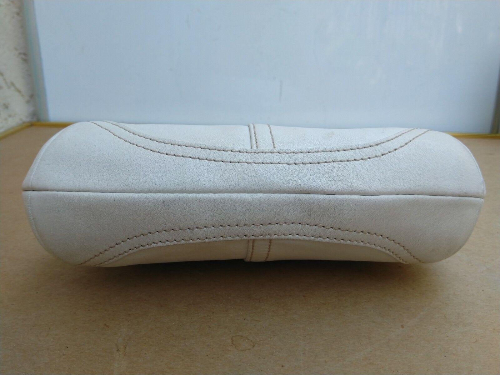 Coach Vtg Soho Kisslock Ivory Leather Framed Wris… - image 6