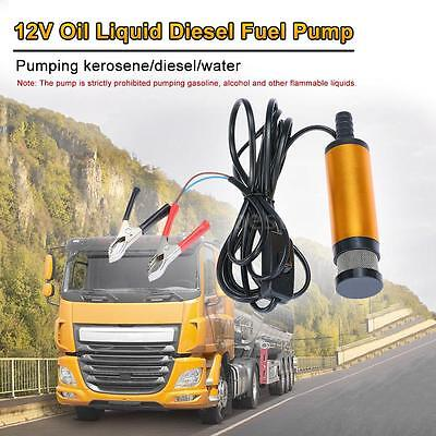 Oil Diesel Fuel Water Pump 12V Transfer Pump for Car Caravan Marine Boat P6T9
