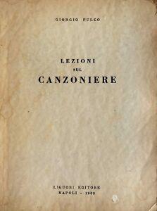 GIORGIO-FULCO-LEZIONI-SUL-CANZONIERE-LIGUORI-1969