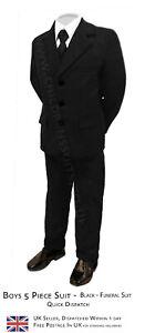 Prom Suit Page Boy Suits Boys Funeral Suit Boys Black Suit Boys Wedding Suit