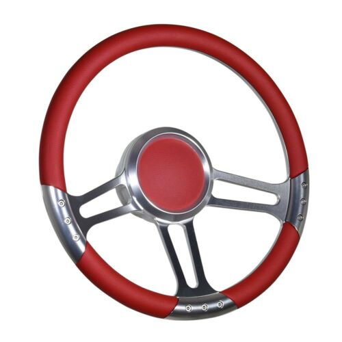 "Boat Billet steering wheel W//Adapter 3 spoke 3//4/"" tapered key Marine Leather"