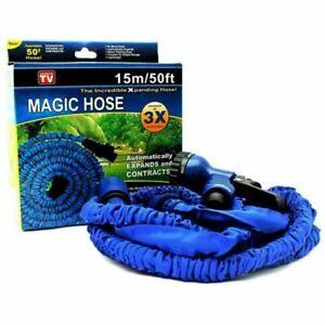 Water Magic Hose Tuyau Extensible Jardin Eau Lavage Voiture Pistolet 15 m 50 Ft environ 15.24 m