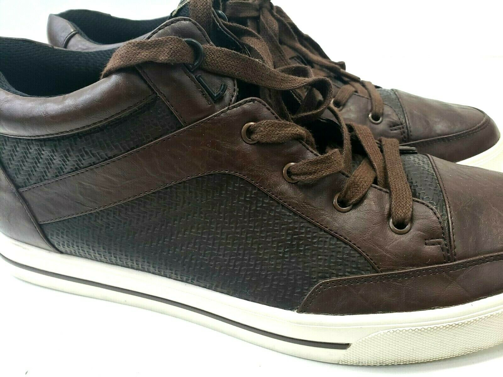 Armani jeans mens sneakers shoes casual leather size 10