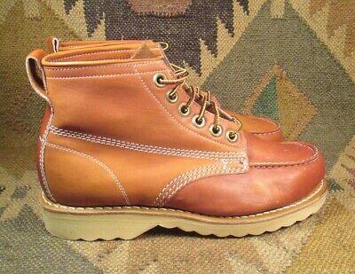"""Aspen Trail Finders 6 """" Classico Inglese Pelle Marrone Moc Toe Stivali Numero Materiali Accuratamente Selezionati"""