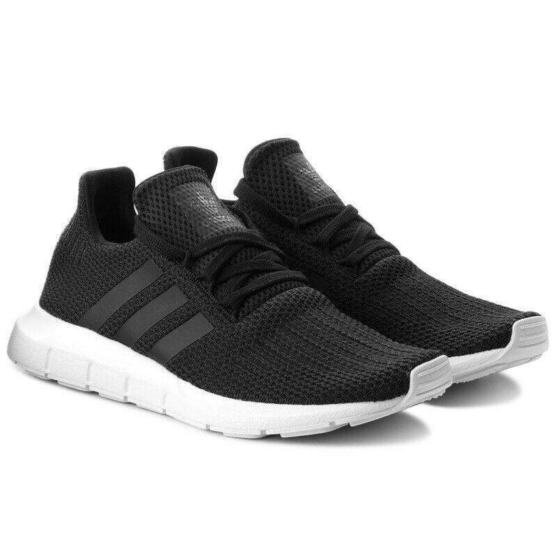 Adidas Swift Run B37726 black white Mens shoes