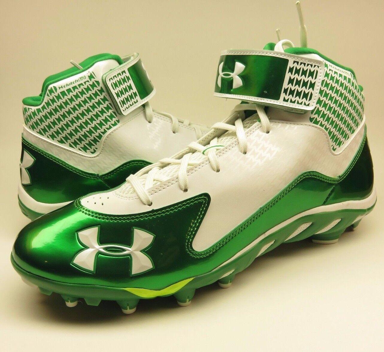 Under Armour Team Spine Fierce MC Size 13.5 Green/White Football da Cleats Scarpe classiche da Football uomo b7fba9