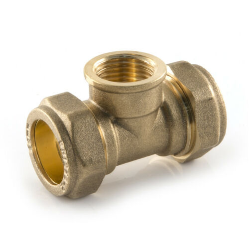 "Compression x Compression x BSP Female 22 mm x 22 mm x 1//2/"" Plumbing TEES"