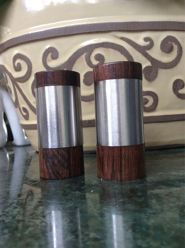 Retro 4 Salt og peber sæt palisander/teak stål mf.