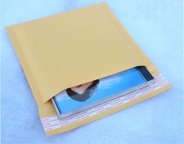 "100 PCS 6.25x6.5"" Bubble Lined Self-Seal CD Jewel Case Mailer Envelope Cushion"