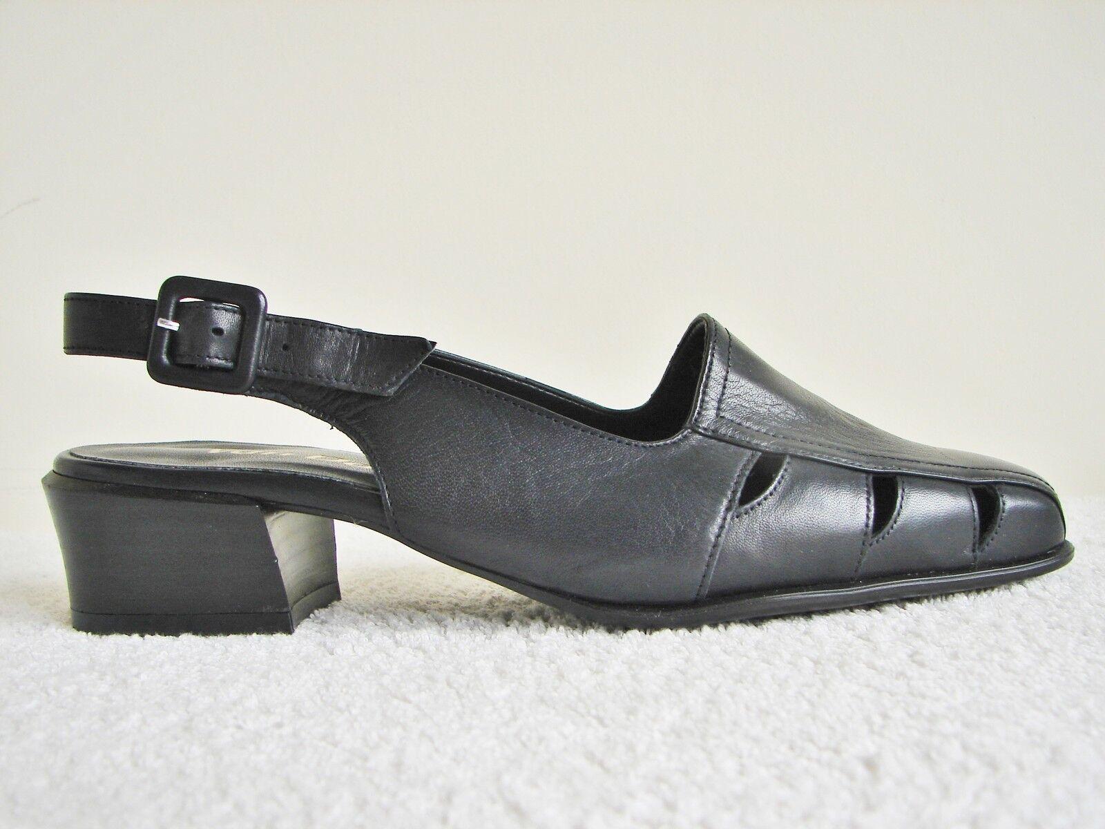 Van Dal Lothian Navy Supersoft Leather Slingback Größe UK3.5 D EU36 1.5 In Heel