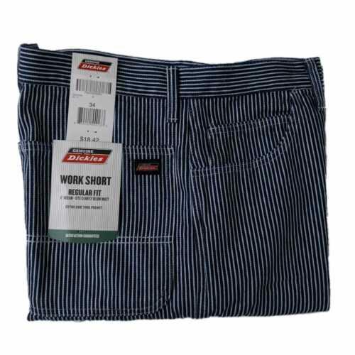 "Men/'s 11/"" Inseam Hickory Stripe Work Carpenter Short Dickies Genuine New"