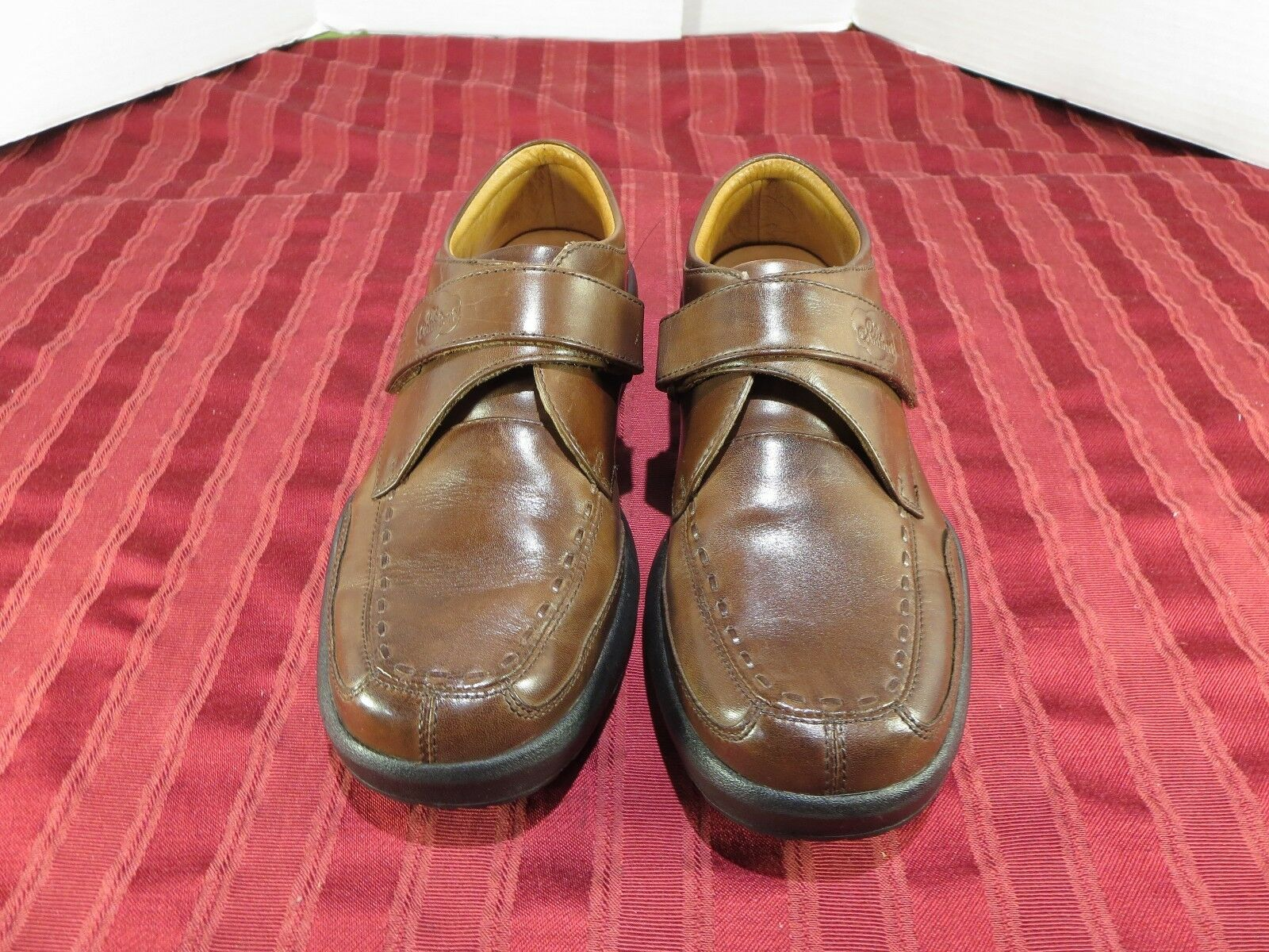 Dr. Comfort Frank Brown Leather Pressure Relief Monk Strap shoes Men Size 9 M