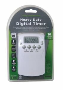 Prime Wire & Cable TNDHD002 2-Outlet Hevy Duty 7day Digtal Timer wth 16 setting