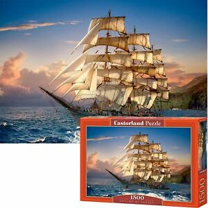 Castorland 1500 Piece Jigsaw Puzzle Sailing at Sunset