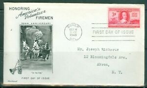 US-FDC-971-FIREMAN-CANCL-OCT-4-1948-DEL-Addr-FLEETWOOD-COVER
