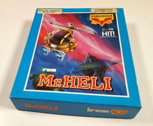 Mr-Heli-by-IREM-Firebird-Commodore-64-C64-Spiel-Cassette-CIB-Poster-Sammler
