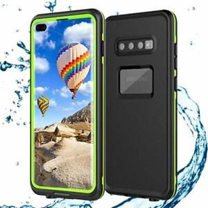 Pour-Samsung-Galaxy-S10-Plus-Waterproof-Shockproof-Case-Built-In-Screen-Protector