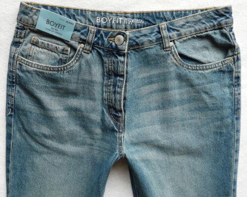 Rilassato L Tapered Wash Rise Vintage Blue Next R Leg Bnwt Mid Jeans Boyfit qw75CAC