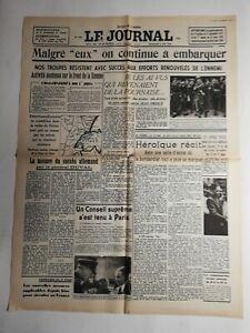 N357-La-Une-Du-Journal-Le-journal-2-juin-1940-malgre-eux-continue-a-embarquee