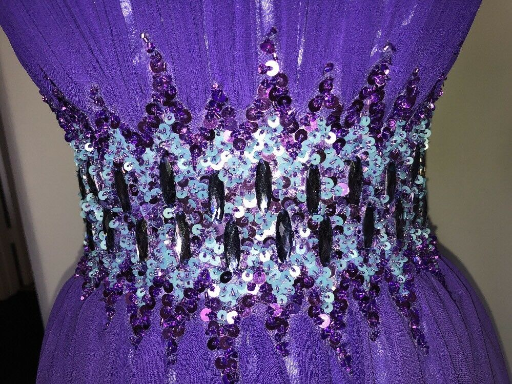 Sean Collection Collection Collection Beaded Waist Strapless Purple Ombré Gown Sz 6 VHF Evening-prom 2dda49