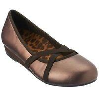 Vionic Orthaheel Solace Dakota Mini Wedges Bronze Shoe Size 6 M
