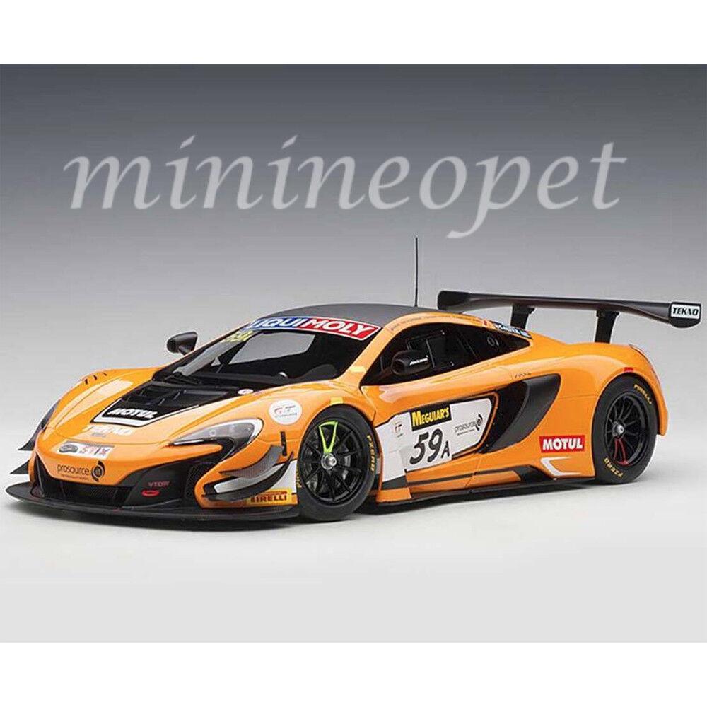 AUTOart 81643 McLAREN 650S GT3 BATHURST 12 HOUR WINNER 2016  59A 118 arancia
