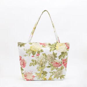 NEW Cotton Tote bag - Knitting craft bag - Zip Beach bag - Market ...