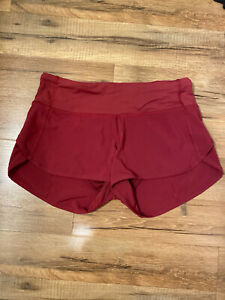 "LULULEMON Burgundy Red Run Speed Up Shorts 2.5"" inseam, Liner, Size 4 Small NEW"