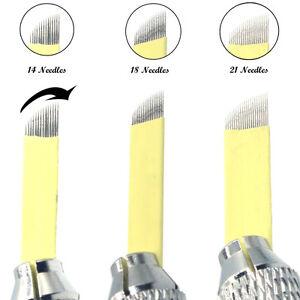 Beauty & Health Generous 21 U Shape Microblading Eyebrow Tattoo Curved Blades Permanent Makeup Needles For Manual Tattoo Pen Machine