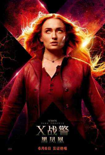 Hot Fabric Poster Dark Phoenix 2019 X-Men Movie Chinese F-491