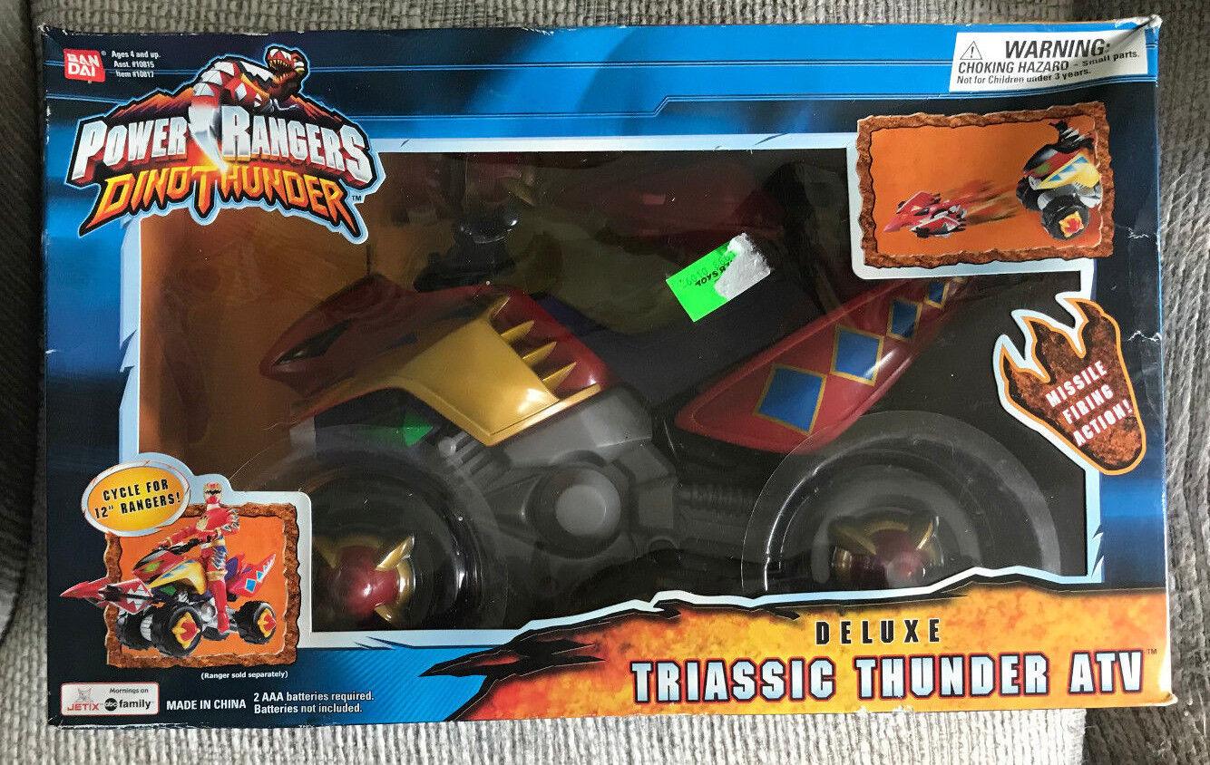 POWER RANGERS DINO THUNDER DELUXE TRIASSIC THUNDER ATV BANDAI 2004 NEW