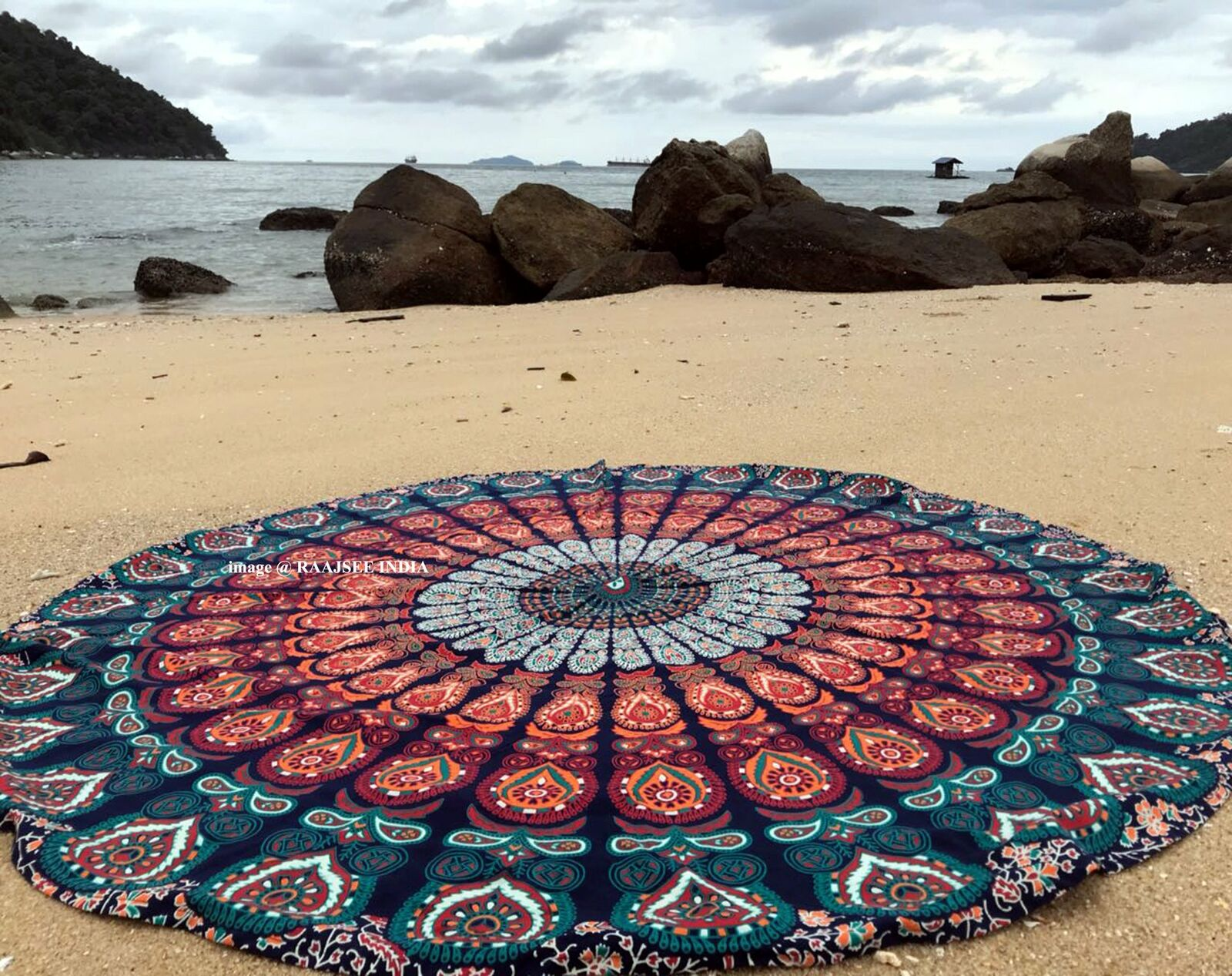 Boho Mandala Round Towel Tapestry Picnic Blanket Yoga Mats AU OTIME Beach Throw