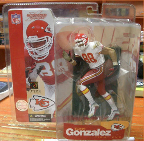 SPORT ACTION  FIGURE NFL FOOTBALL STARS TONY GONZALEZ NUOVO