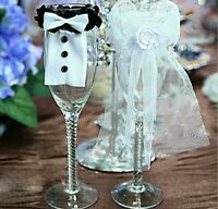 Wedding Wine Glass Decoration Mr. & Mrs.