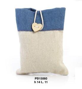 36-pz-Sacchetti-stoffa-jeans-portaconfetti-Bomboniera-by-Mandorle-bomboniere