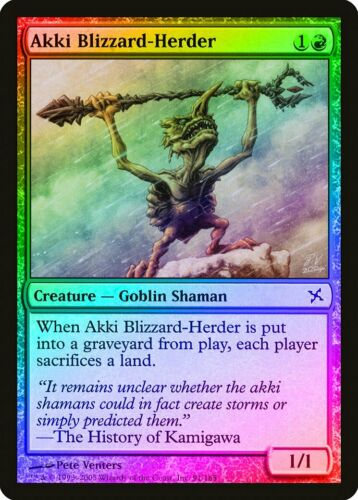 Akki Blizzard-Herder FOIL Betrayers of Kamigawa NM Red Common CARD ABUGames