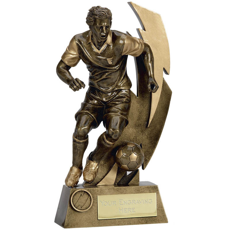 Fußball Fußball Fußball Spieler Trophäe Gratis Gravur Auszeichnung 14.6cm 17.1cm 20.3cm 22.2cm 5c5428