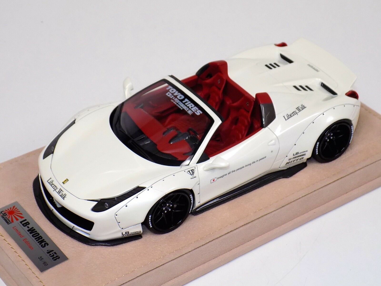1 18 Ferrari 458 Spider Liberty Walk LB Performance Fuji White N BBR   MR