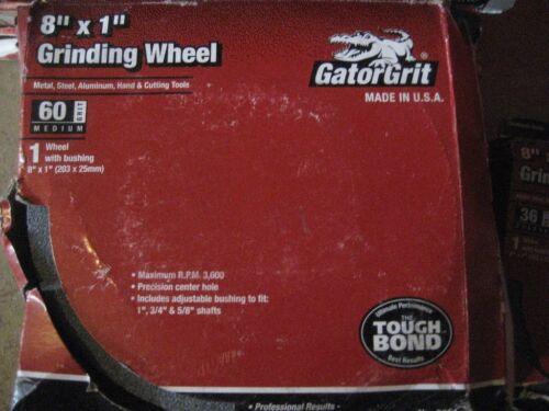 D2467-2 GATOR GRIT 8X1X1 60GRIT GRINDING WHEEL 2PCS