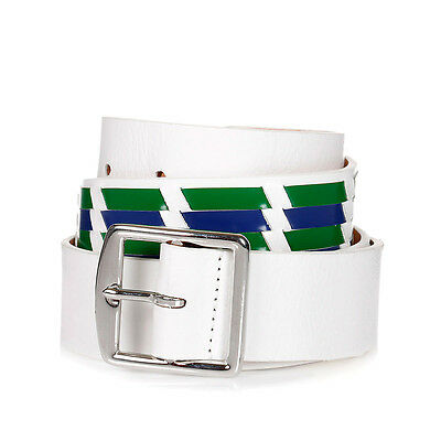 DSQUARED2 D2 New Man White Leather Belts Insert Size 90/35 Made in Italy $169