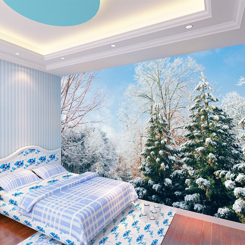 3D Snow Forest Scenery 1209 Paper Wall Print Wall Decal Wall Deco Indoor Murals