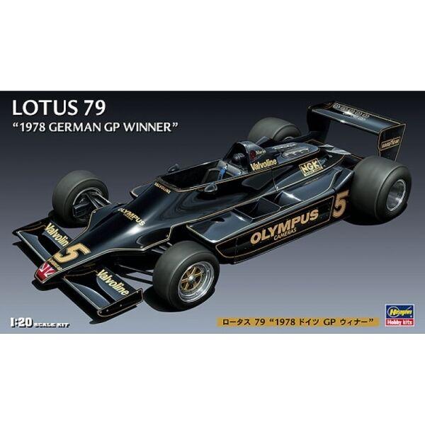 HASEGAWA HAFG3 LOTUS 79 F1 German GP winner plastic assembly model kit 1:20th