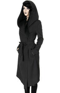 Restyle-Nox-Gothic-Punk-Occult-Witch-Emo-Black-Hooded-Jacket-Cloak-Cape-Coat