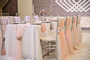 Chiffon voile table runner wedding party decorations several sizes image is loading chiffon voile table runner wedding party decorations several junglespirit Choice Image