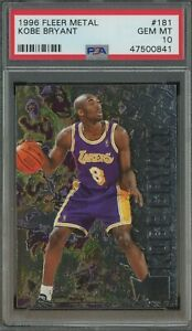 1996-97-Fleer-Metal-181-Kobe-Bryant-Lakers-RC-Rookie-HOF-PSA-10-GEM-MINT