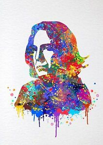 Details About Harry Potter Severus Snape Alan Rickman Watercolour Wall Art Poster Print